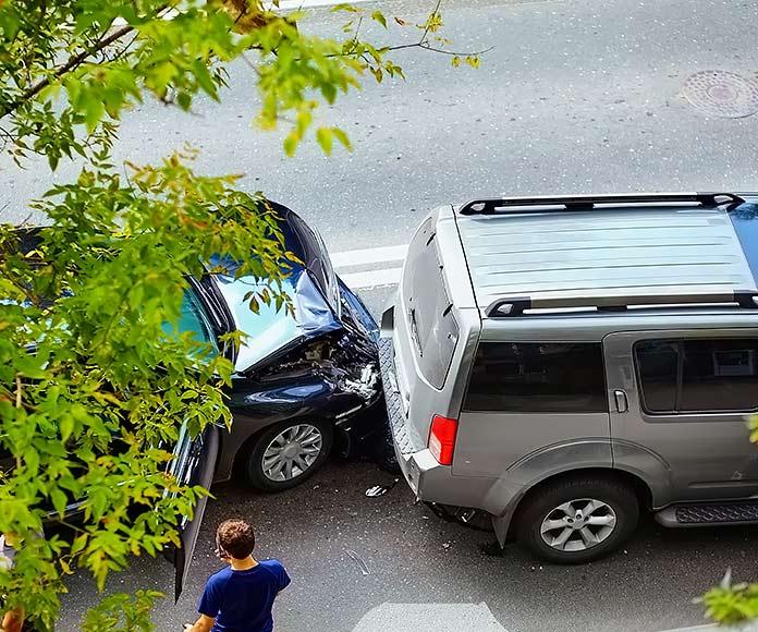 accidente de coche, colisión entre dos coches