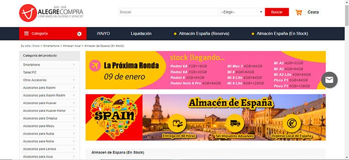 Web de Alegrecompra