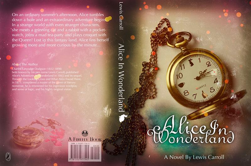Portada y contraportada del libro de Alicia en el país de las maravillas
