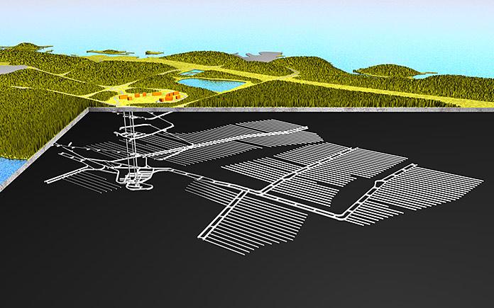 Ilustración de una almacén geológico