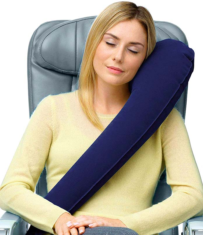 Almohada ergonómica para el avión