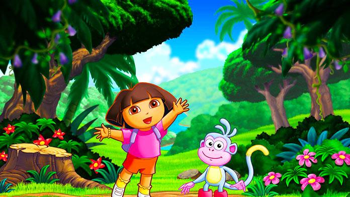 Caricatura Dora la exploradora