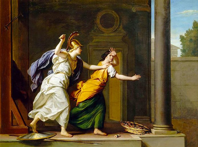 Minerva y Aracne