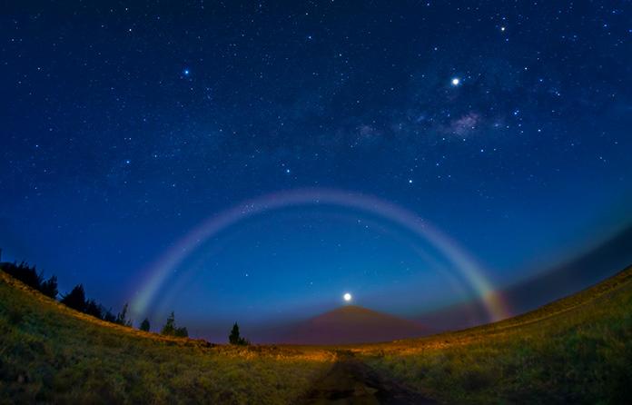 Arcoíris nocturno