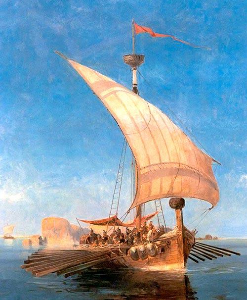 El Argo, por Konstantinos Volanakis.