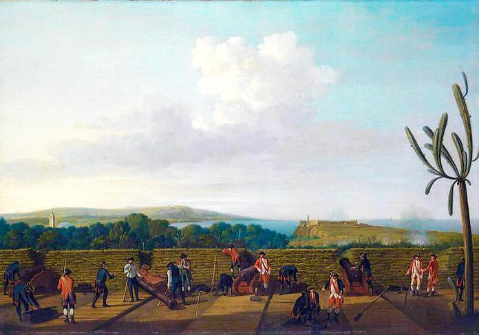 Cañones de asedio frente al Morro