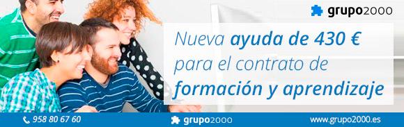 ayuda de 430 euros para contratos para la formación y el aprendizaje
