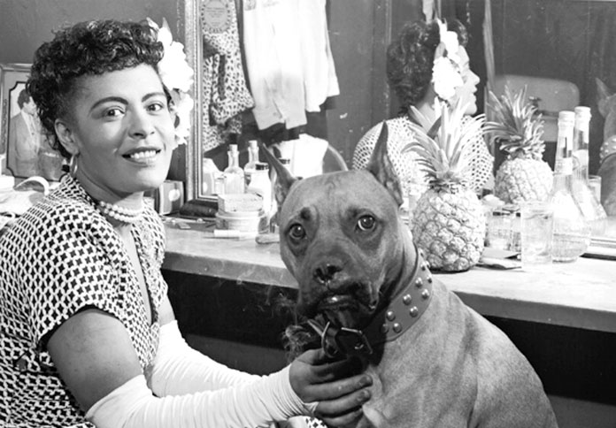 Billie Holiday con Mr. Downbeat