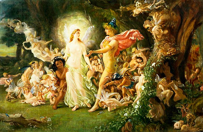 La pelea de Oberón y Titania