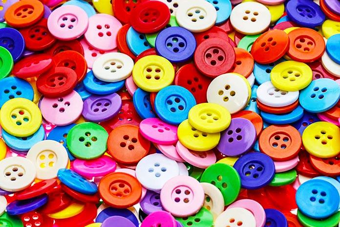 Botones de diversos colores