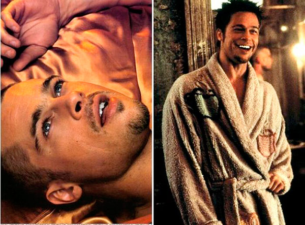 Escenas de El Club de la Lucha donde se ve a Brad Pitt con el diente mellado