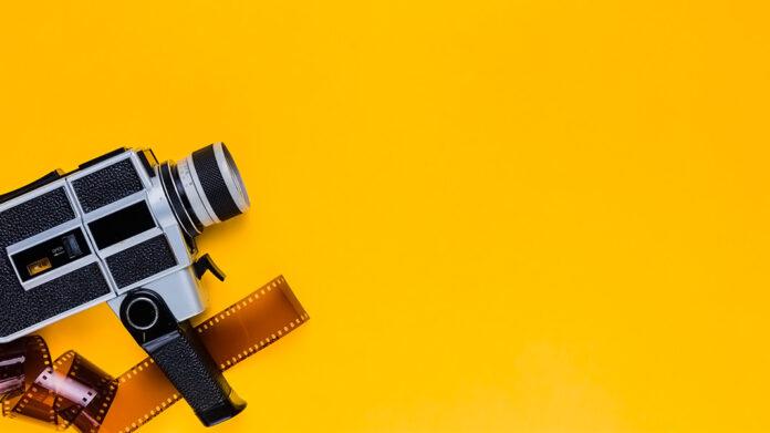 cámara y película de vídeo