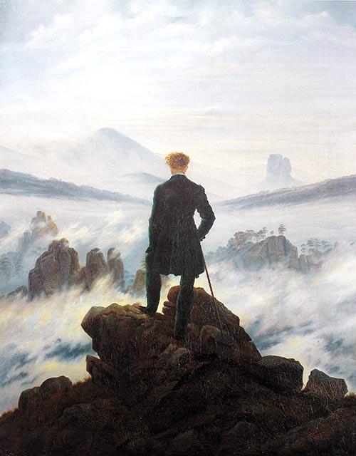 El caminante sobre un mar de nubes