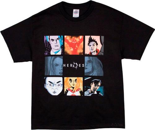 Camiseta estilo Anime de la serie Héroes
