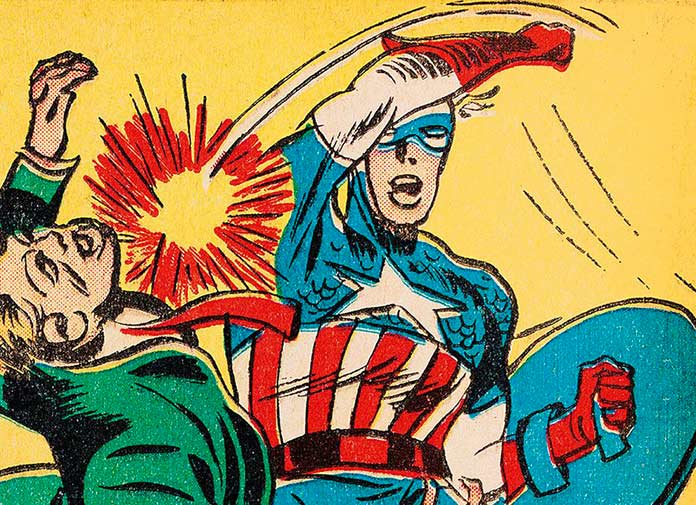 Ilustración de Jack Kirby para la historia escrita por Stan Lee