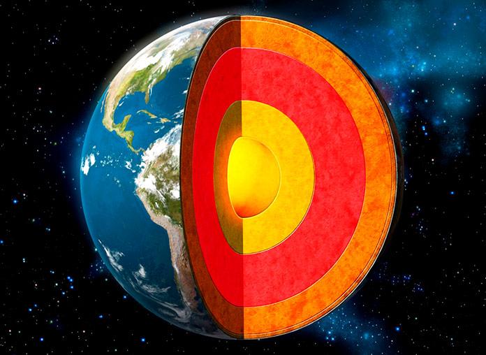 Características del centro de la tierra