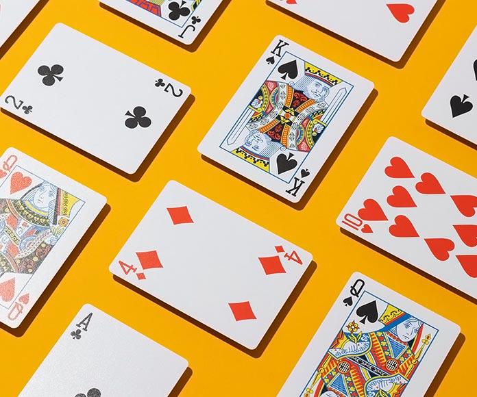 mosaico de cartas de póker
