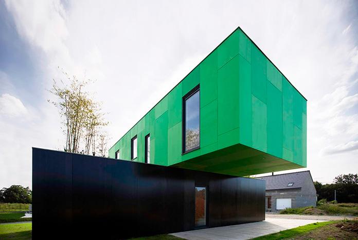 Casa fabricada con contenedores reciclados