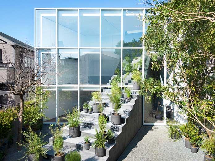 Casa de la escalera - Fachada plantas