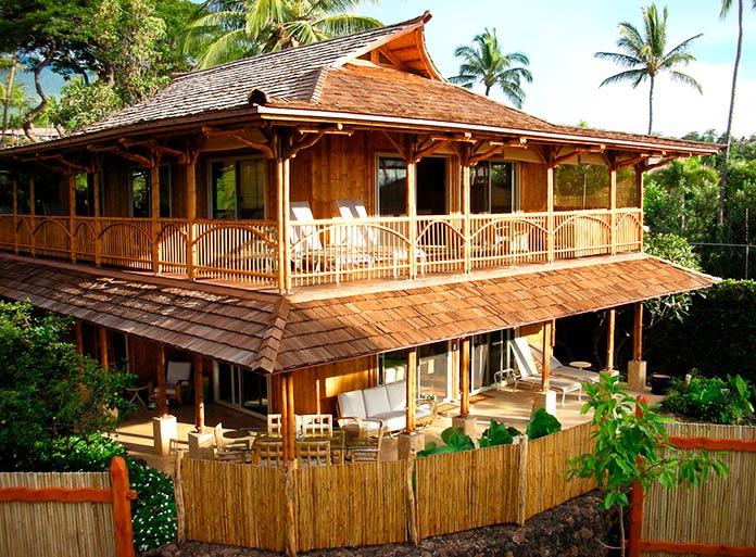 Casa ecológica de bambú
