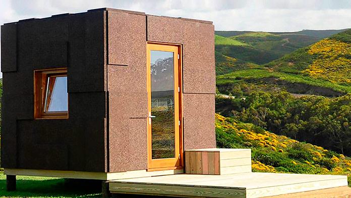 Refugio ecológico construido con corcho