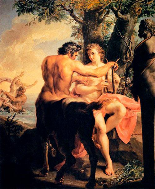 """Aquiles y el Centauro Quirón"" (Pompeo Batoni, 1746 / Galleria degli Uffizi, Florencia, Italia)"