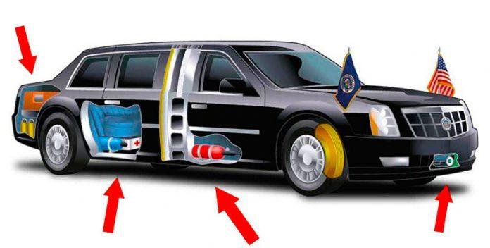 El coche presidencial de Trump