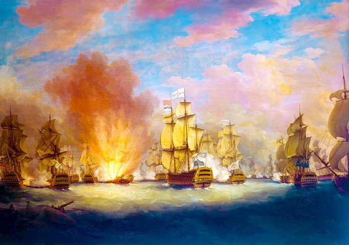 El combate del cabo Santa María