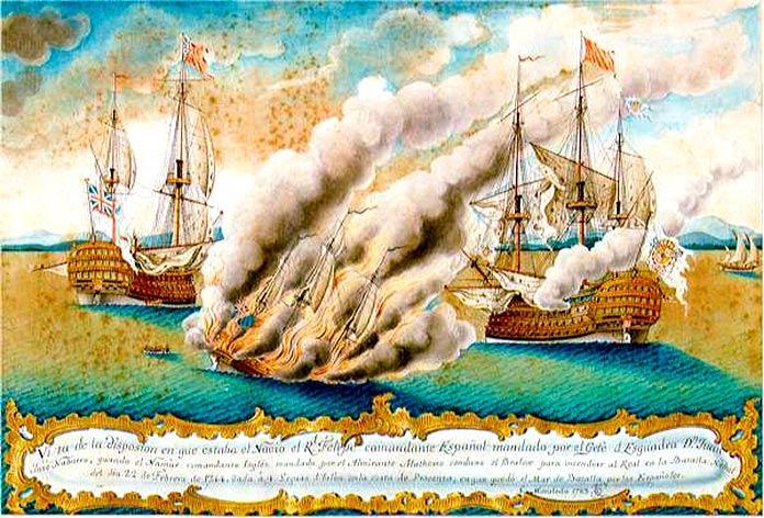 Combate entre el Real Felipe y el Namur