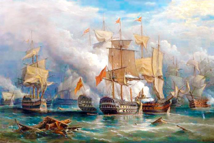 Pintura en el combate del Cabo San Vicente