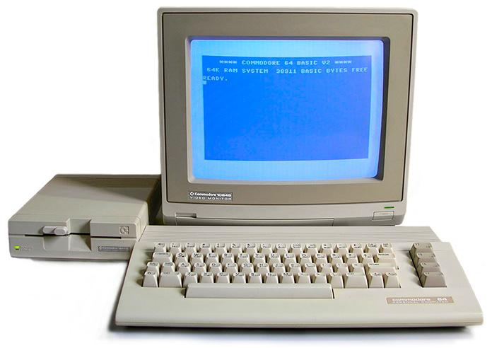 Ordenador Commodore 64 con disquetera y teclado