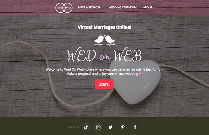 Cómo casarse por internet en WedOnWeb