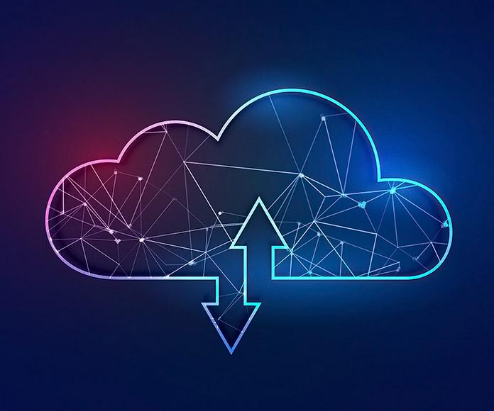 gráfico de una nube de datos