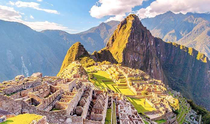 Edificios antiguos: Machu Picchu, Perú