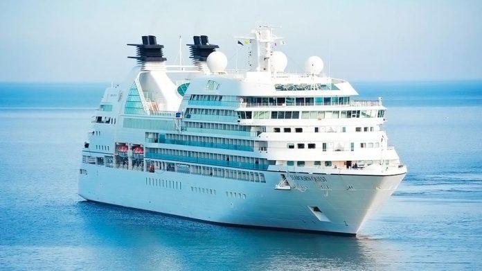crucero en alta mar