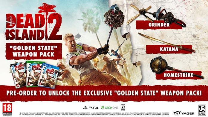 Dead Island 2, oferta de prelanzamiento con el Golden State Weapon Pack