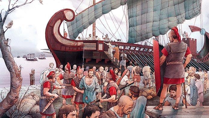 Deportación de ligures desde el puerto de Luna a Beneventum en el Sanmio