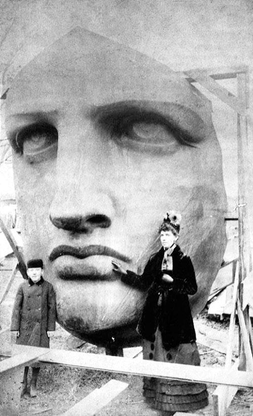 Desembalando la Estatua de la Libertad