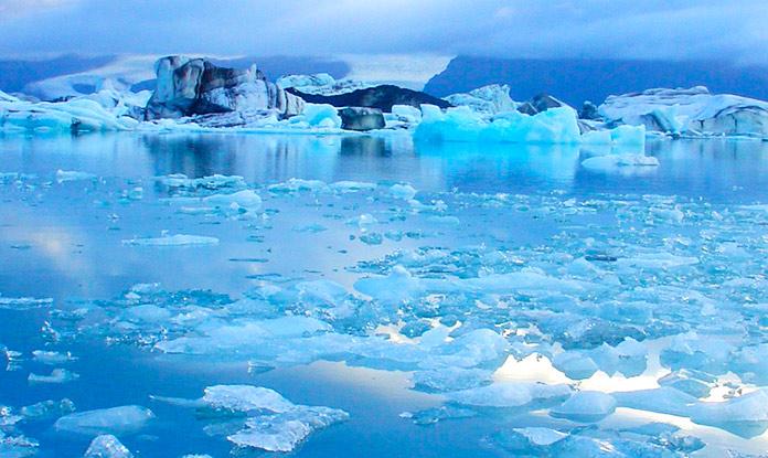 Deshielo de un glaciar