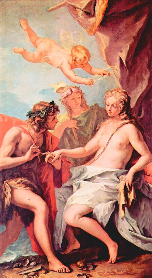 Dioniso y Ariadna (Sebastiano Ricci)