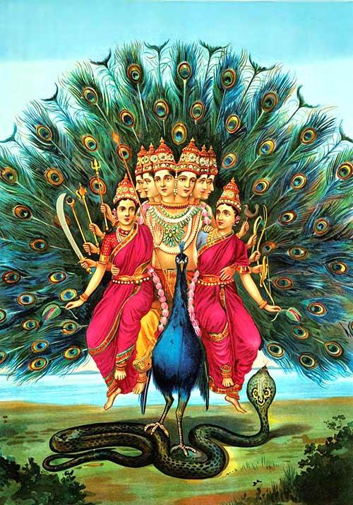 Dioses de la India - Kartikeia