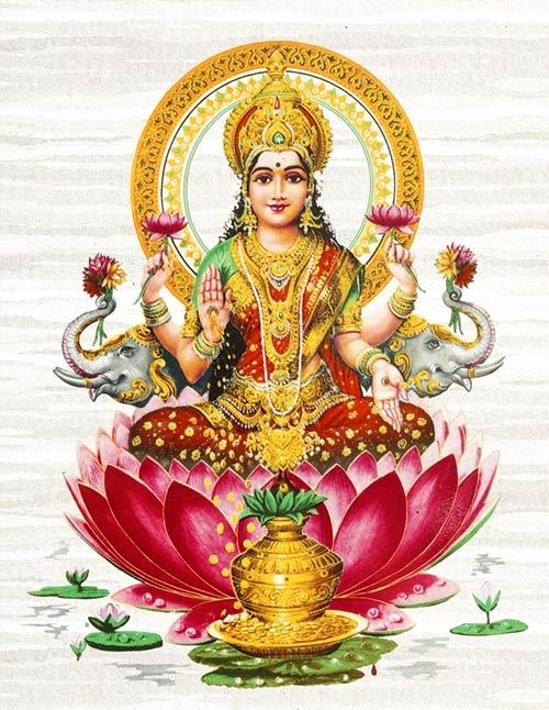 Dioses de la India - Lakshmi