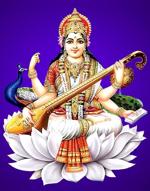 Dioses de la India - Saraswati
