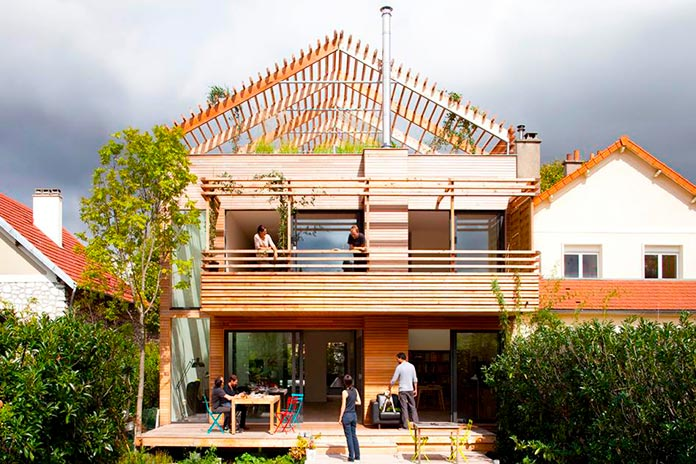 """Casa ecológica """"Djuric Tardio"""". París, Francia"""