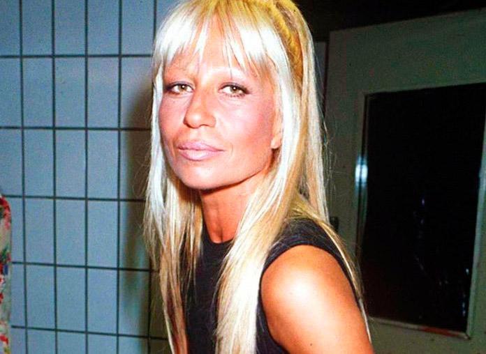 Donatella Versace antes