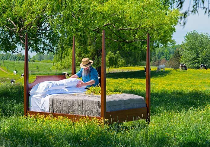 Una cama en el campo