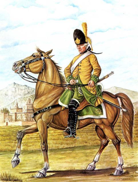 """Regimiento de dragones """"Sagunto"""", España 1775"""