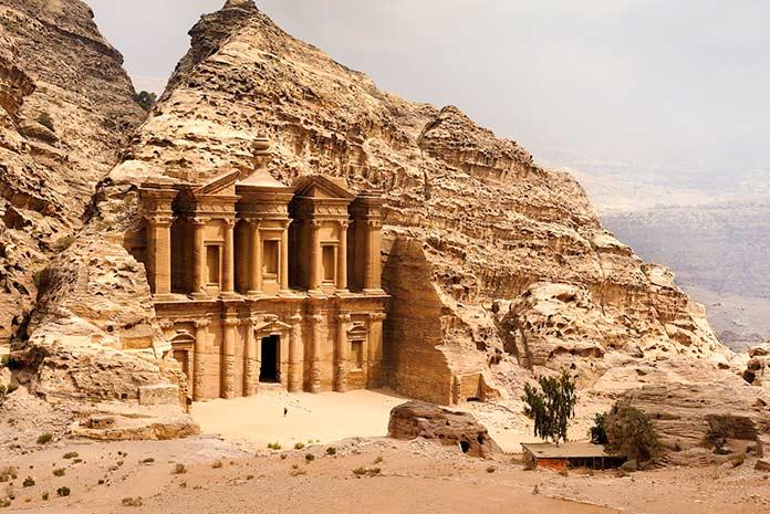 Edificios antiguos: Petra, Jordania