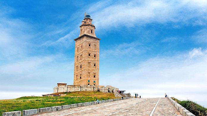 Edificios antiguos: Torre de Hércules, A Coruña