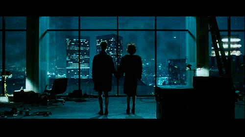 Escena de El Club de la Lucha donde se ven las plataformas de Helena Bonham Carter